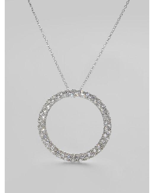 Adriana Orsini | Metallic Pave Circle Necklace | Lyst