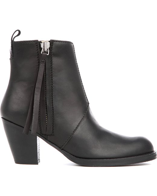 acne pistol boots in black save 19 lyst. Black Bedroom Furniture Sets. Home Design Ideas