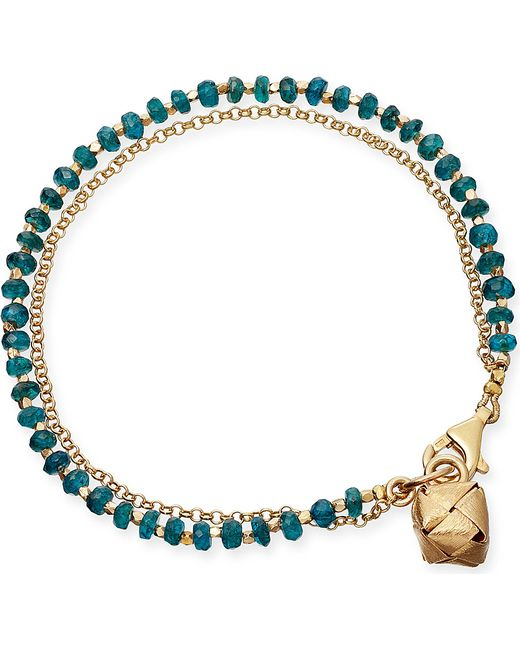 Astley Clarke | Green Little Parcel Apatite Friendship Bracelet | Lyst