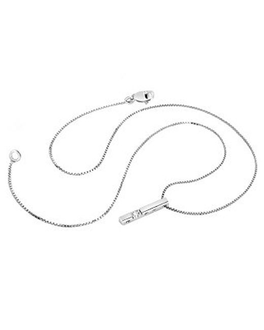 FORZIERI | 18k White Gold Diamond Bar Necklace | Lyst