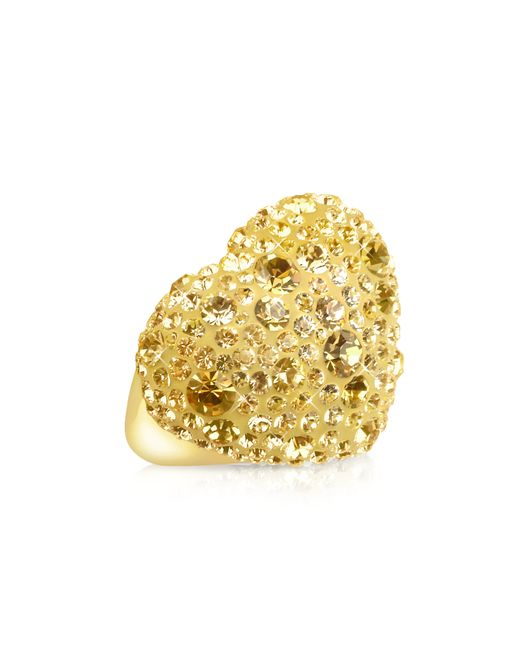 Gisèle St.moritz | Metallic Fantasmania - Gold Crystal Big Heart Ring | Lyst