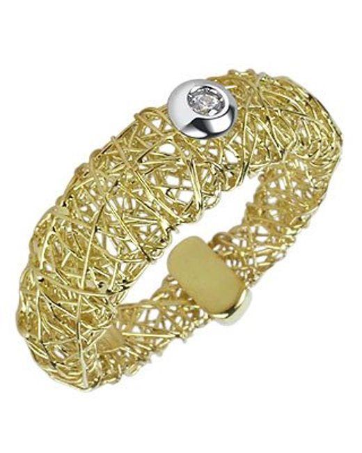 Orlando Orlandini | Metallic Arianna - 18k Gold Ring W/ Round Diamond | Lyst