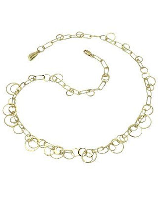 Orlando Orlandini | Star - 18k Yellow Gold Circles Necklace | Lyst