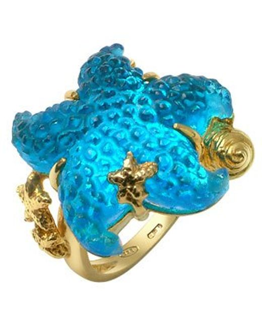 Tagliamonte | Marina Collection - Blue Starfish 18k Gold Ring | Lyst