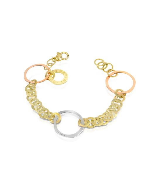 Torrini - Metallic Fiesole - Three-tone 18k Gold Circles Chain Bracelet - Lyst
