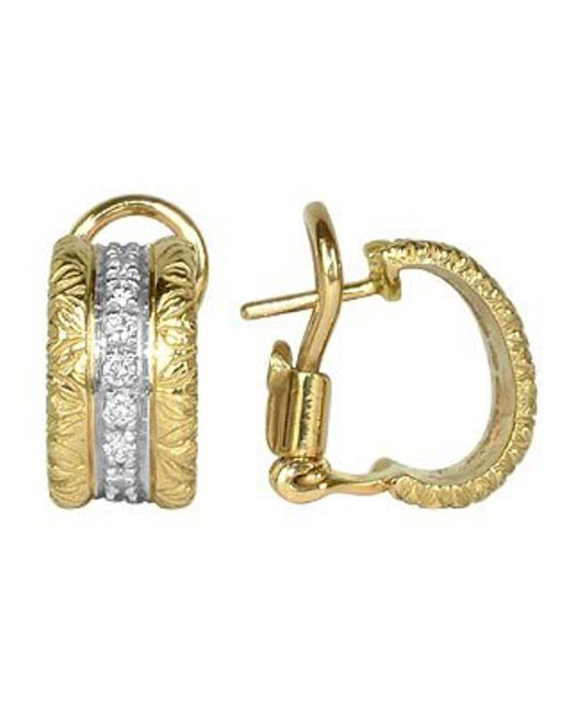 Torrini | Metallic Mini-denise - 18k Yellow Gold Diamond Earrings | Lyst