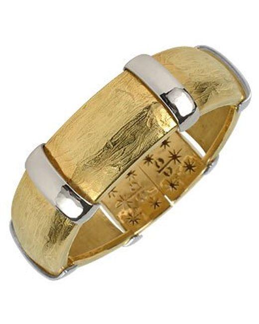 Torrini | Morphos - 18k Yellow And White Gold Cuff Bracelet | Lyst