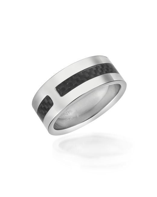 Zoppini | Metallic Zo Dark - Carbon Fiber & Stainless Steel Band Ring | Lyst