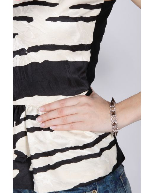 Joomi Lim   Metallic Spike & Crystal Bracelet   Lyst