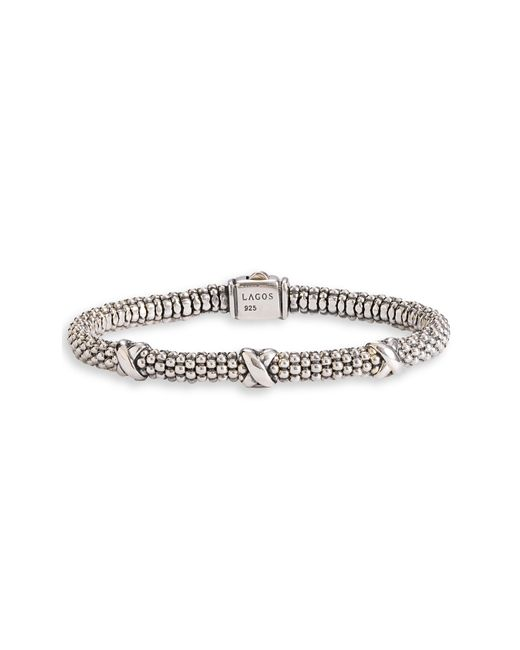 Lagos | Metallic 'signature Caviar' Mini Oval Rope Bracelet | Lyst