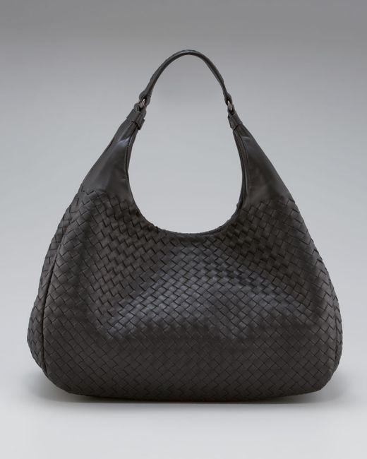 Bottega Veneta | Black Hobo Shoulder Bag | Lyst