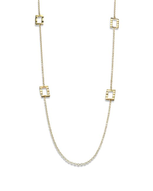 Ippolita | Metallic Glamazon 18k Yellow Gold Rectangle Station Necklace | Lyst