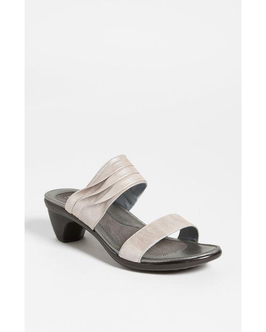 Naot   Metallic 'isis' Sandal   Lyst
