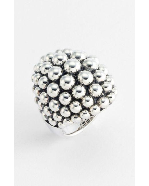 Lagos | Metallic 'bold' Caviar Ring | Lyst