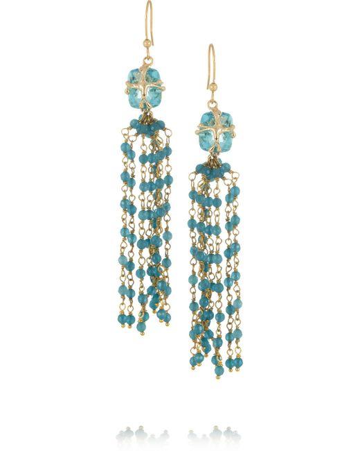 Rosantica | Blue Stupendo Gold-Dipped Aquamarine Drop Earrings | Lyst