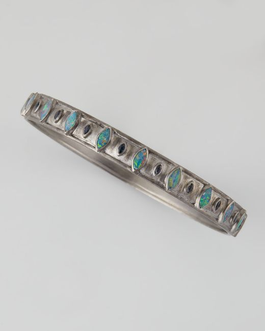 Armenta | Metallic New World Opal & Blue Sapphire Wide Bangle | Lyst