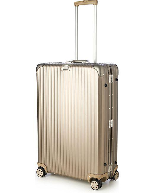 rimowa topas four wheel titanium silver suitcase 81cm in multicolour for men lyst. Black Bedroom Furniture Sets. Home Design Ideas