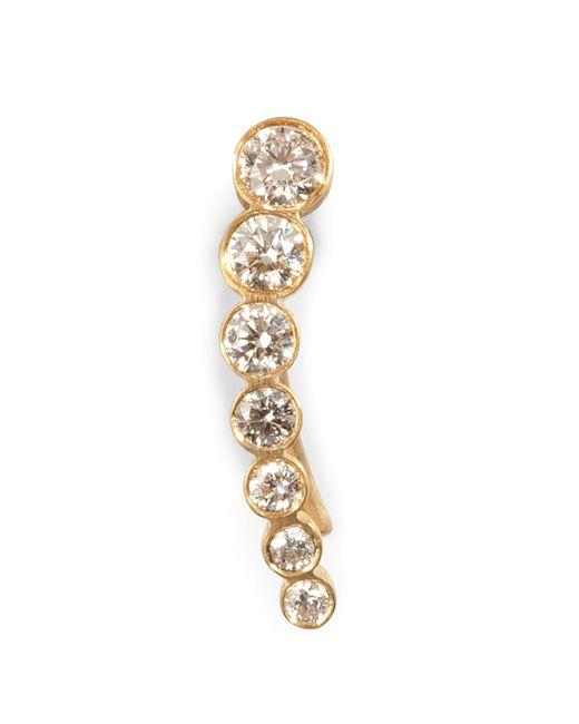 Sophie Bille Brahe | Metallic Gold/diamond Petite Croissant De Lune Earring | Lyst
