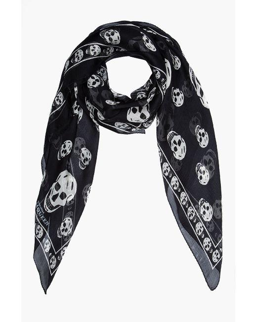 Alexander McQueen | Black 'skull' Scarf for Men | Lyst