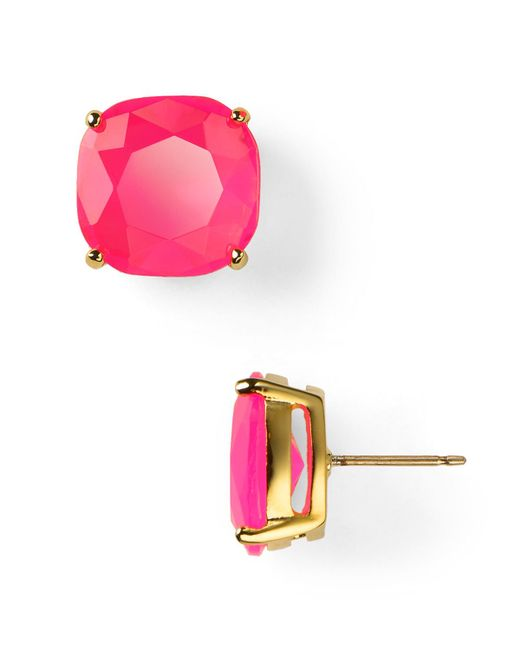 Kate Spade | Pink Small Square Stud Earrings | Lyst
