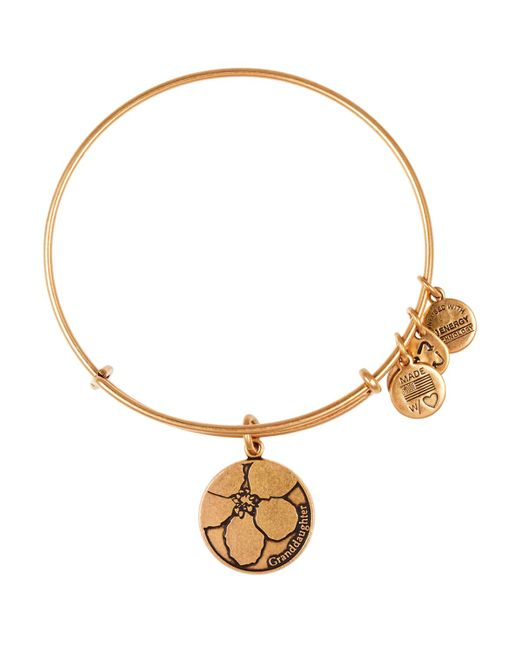 ALEX AND ANI | Metallic Granddaughter Expandable Wire Bangle | Lyst