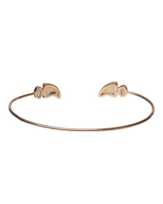 Dezso by Sara Beltran | Metallic 18k Rose Gold & Opal Shark Fin Bracelet | Lyst