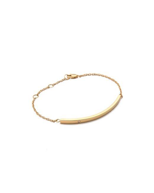 Jennifer Zeuner | Yellow Horizontal Bar Bracelet With Diamond | Lyst