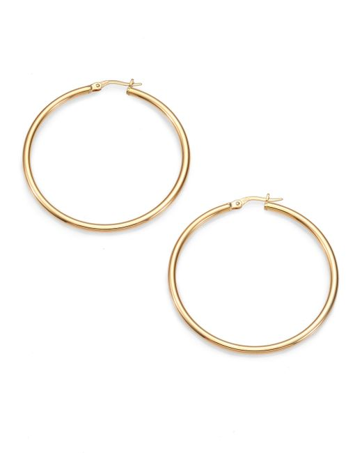 Roberto Coin | Metallic 18k Yellow Gold Hoop Earrings/1.75 | Lyst