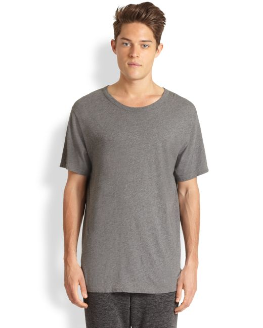 T By Alexander Wang | Gray Basic Cotton Tee for Men | Lyst