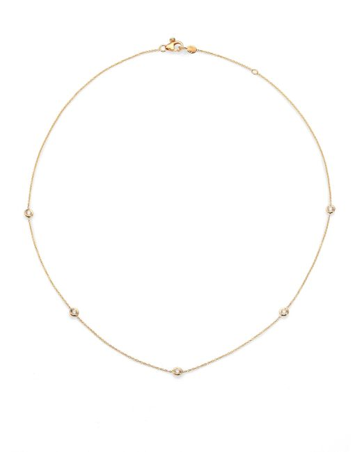Roberto Coin | Metallic Diamond & 18k Yellow Gold Station Necklace/18 | Lyst