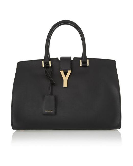 Saint Laurent   Black Cabas Chyc Medium Leather Shopper   Lyst