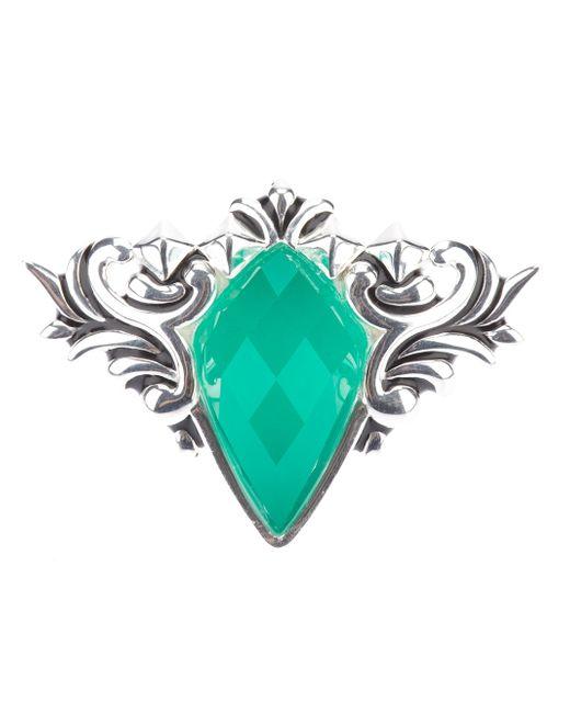 Stephen Webster | Silver 'superstud' Baroque Spike Crystal Haze Ring | Lyst