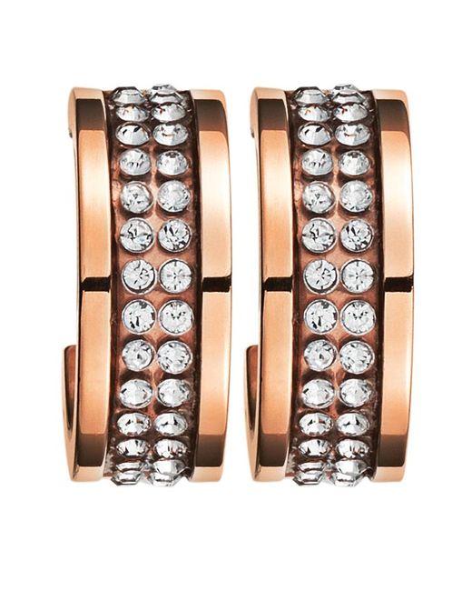 Dyrberg/Kern | Pink Kimmie Rose Gold Crystal Earrings | Lyst