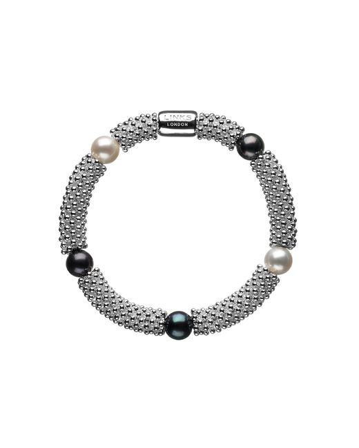 Links of London | Black Effervescence Star Sterling Silver Pearl Bracelet | Lyst