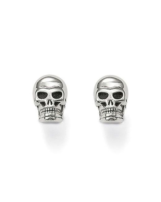 Thomas Sabo | Metallic Rebel At Heart Silver Skull Ear Studs | Lyst