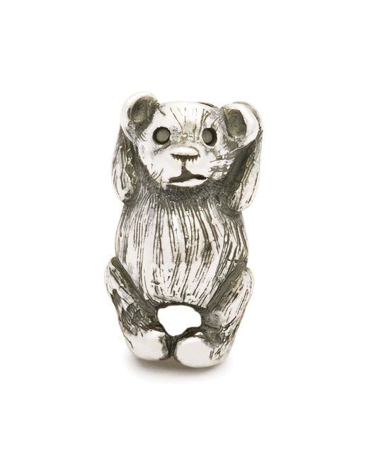 Trollbeads | Metallic Hugging Bear Silver Charm Bead | Lyst