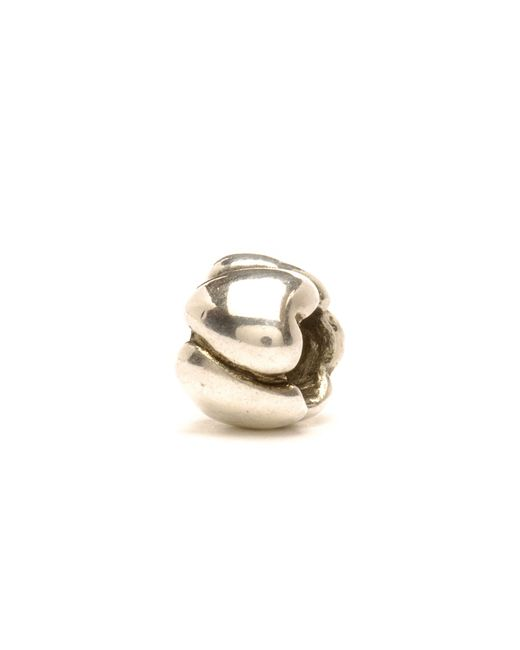 Trollbeads | Metallic Small Hearts Silver Charm Bead | Lyst