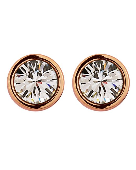 Dyrberg/Kern | Pink Noble Rose Gold Crystal Earrings | Lyst