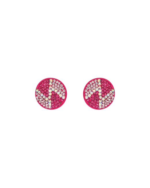 Mikey | Purple Round Z Earrings | Lyst