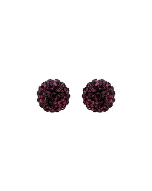 Mikey | Purple Ball Stud Earring | Lyst