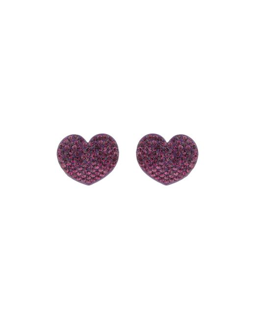 Mikey | Purple Flat Heart Earrings | Lyst