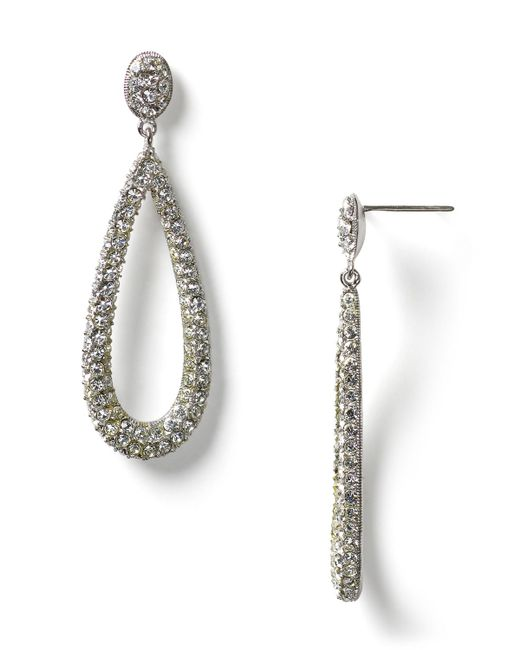 Nadri | Metallic Open Long Teardrop Earrings | Lyst