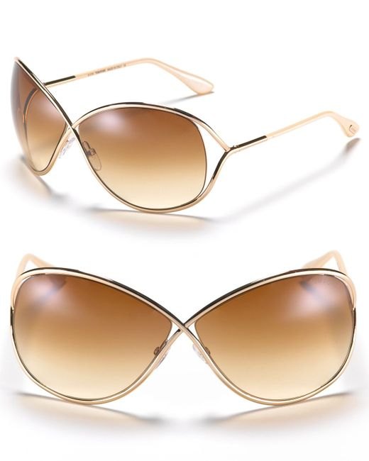 tom ford miranda sunglasses 63mm in pink shiny rose gold lyst. Cars Review. Best American Auto & Cars Review