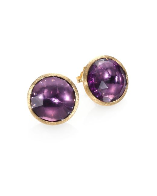 Marco Bicego | Metallic Jaipur Amethyst & 18k Yellow Gold Earrings | Lyst