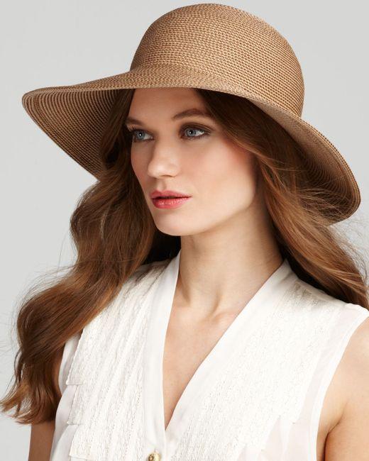 Eric Javits   Natural Packable Squishee Iv Short Brim Sun Hat   Lyst