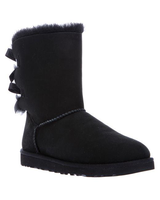 Ugg | Black Ugg 'bailey Bow Ii' Boot | Lyst