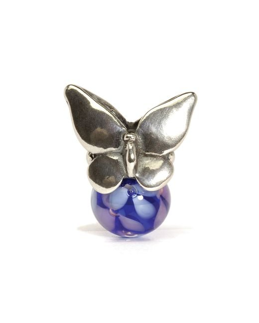 Trollbeads   White Summer Silver And Glass Charm Bead   Lyst