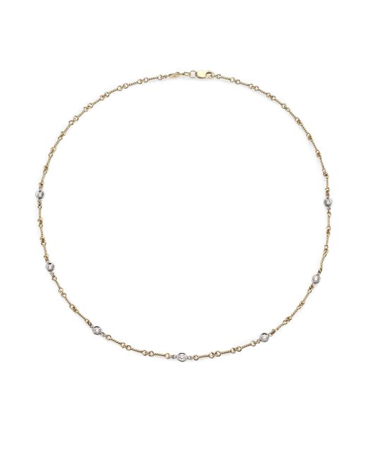 Roberto Coin | Diamond & 18k Yellow Gold Station Necklace | Lyst