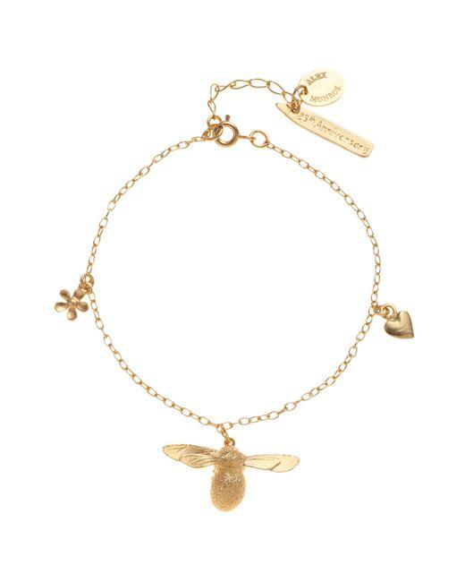 Alex Monroe | Metallic 25th Anniversary Baby Bee Charm Bracelet | Lyst