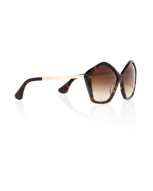 Miu Miu | Brown Ladies Mu11ns Culte Havana Sunglasses | Lyst